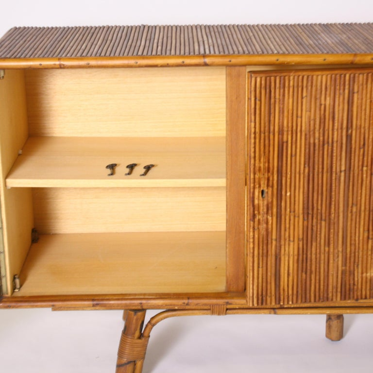 French Bamboo Credenza, circa 1950 For Sale 2