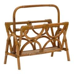 French Bamboo Magazine Stand