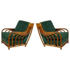 French Bamboo Rattan Chairs