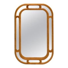 French Bamboo Vintage Mirror