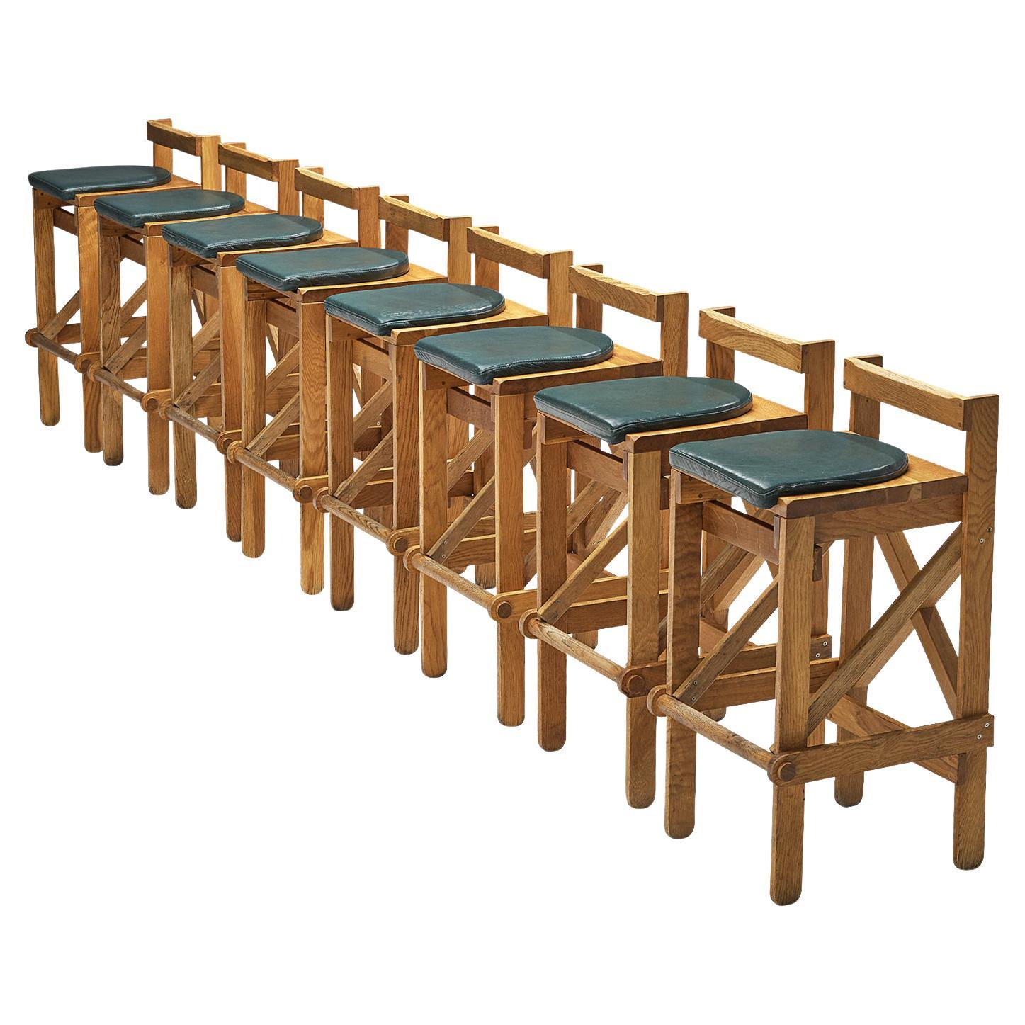 French Bar Stools in Solid Oak