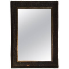 French Bark Cork Framed Mirror from 19th Century