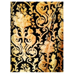 French Baroque Silk Fabric or Curtain, 19th Century