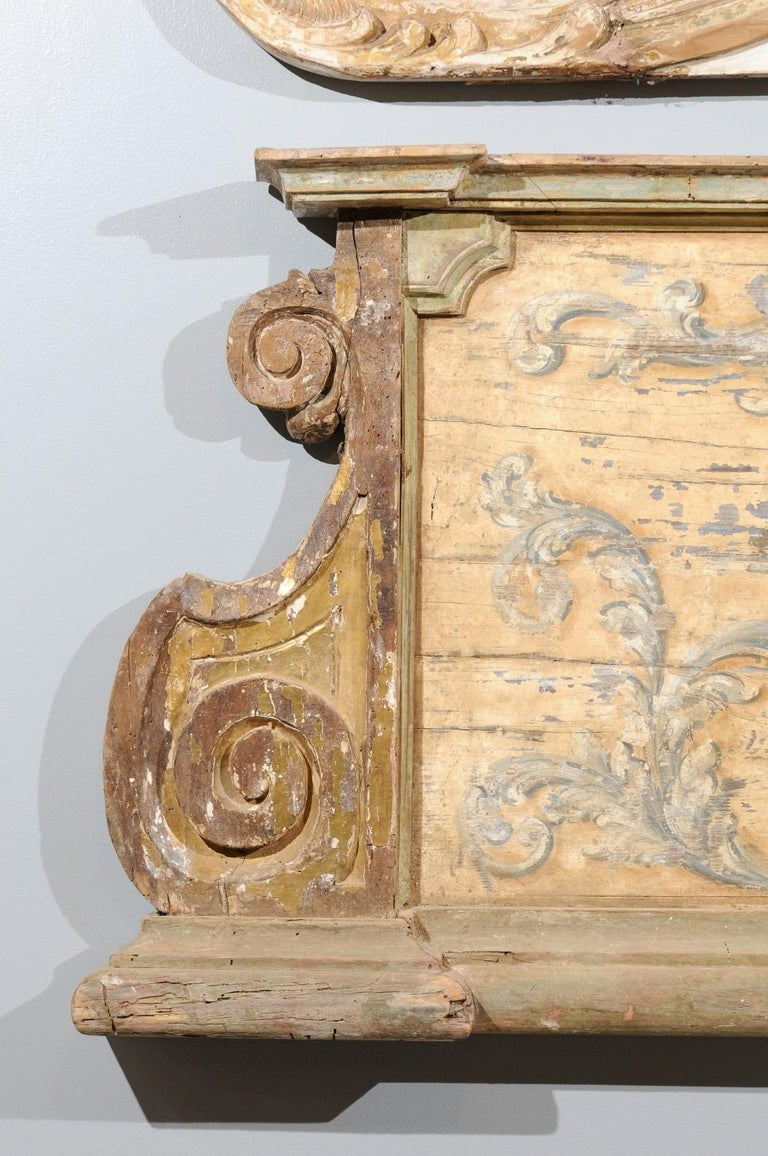 French Baroque Style Architectural Fragment with Volutes, Late 19th Century In Good Condition In Atlanta, GA