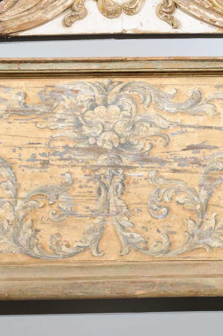 Wood French Baroque Style Architectural Fragment with Volutes, Late 19th Century