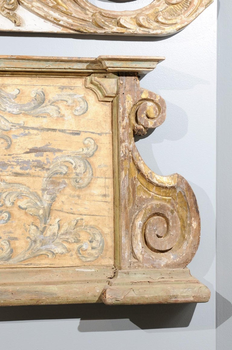 French Baroque Style Architectural Fragment with Volutes, Late 19th Century 1