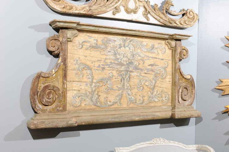 French Baroque Style Architectural Fragment with Volutes, Late 19th Century 2