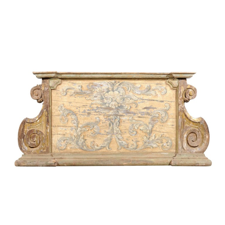 French Baroque Style Architectural Fragment with Volutes, Late 19th Century