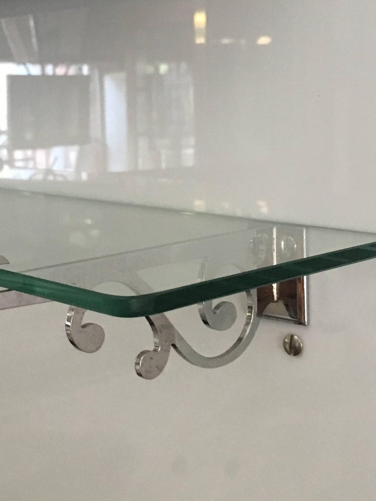 French Bathroom Adjustable Mirror with Shelf and Accessories from 1920s For Sale 3