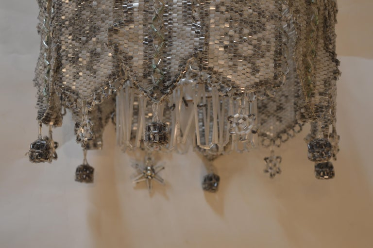 French Beaded Chandelier For Sale 1