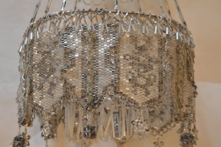 French Beaded Chandelier For Sale 2