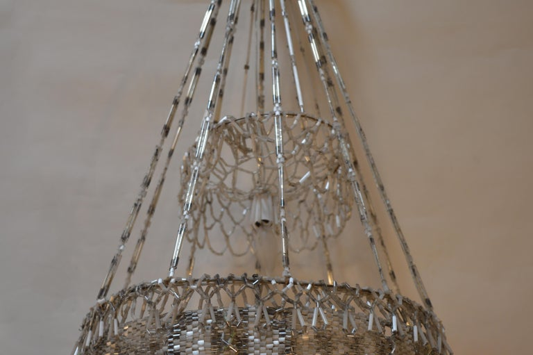 French Beaded Chandelier For Sale 3