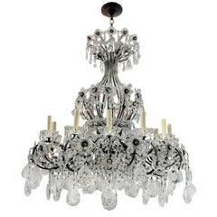 French Beaded & Crystal Chandelier