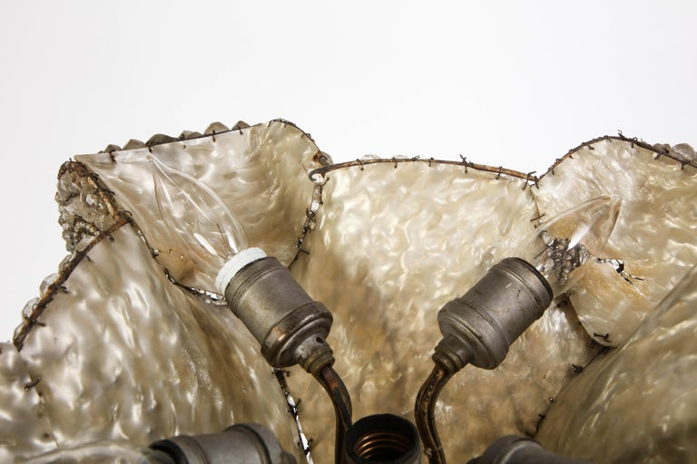 French Beaded Glass Table Lamp, Attributed To Maison Bagues, Circa 1925 For Sale 7