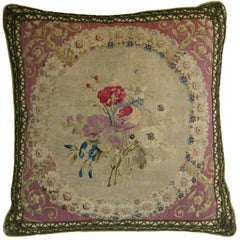 French Beauvais Tapestry Pillow, circa 1780 237p