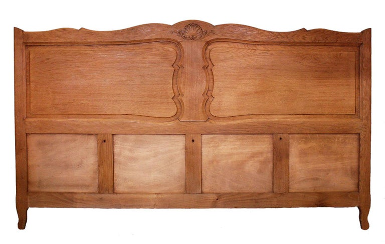 Mid-Century Modern French Bed Headboard California King to Customize Louis, Early 20th Century For Sale