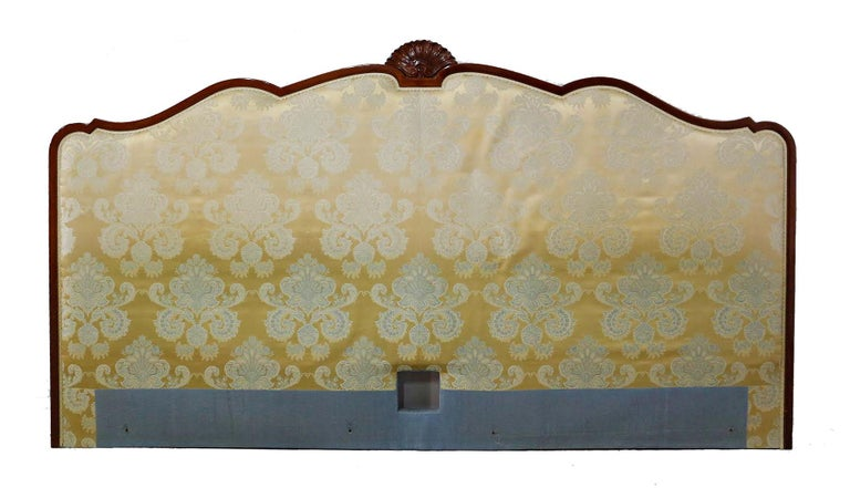 20th Century French Bed Headboard Super King to Customize Price Includes Recovering Louis Rev For Sale