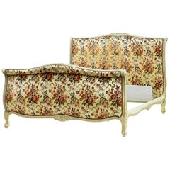 French Bed Scroll US Queen UK King Upholstered Price Includes Recovering