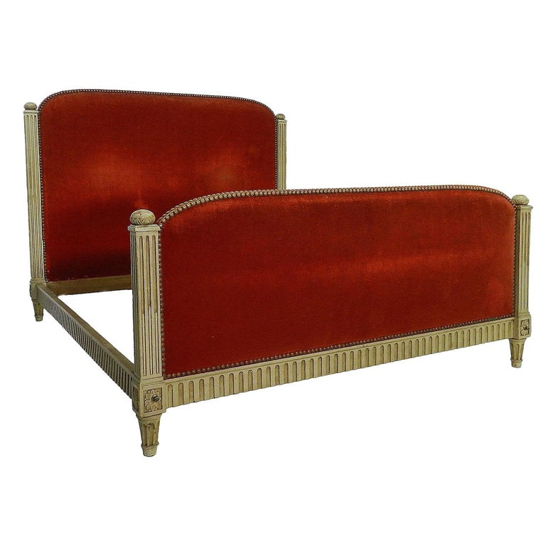 French Bed US Queen UK King Size Art Deco Louis XVI Revival, circa 1920 For Sale