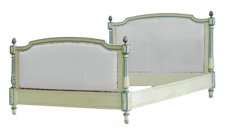 French Bed US Queen UK King Size Early 20th Century Louis XVI Recover Customize For Sale 2