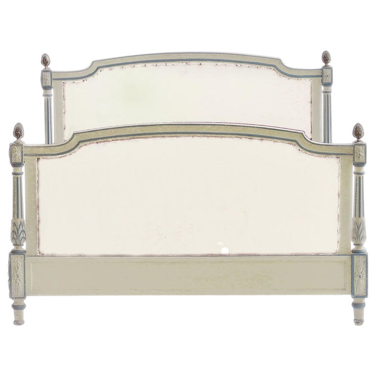 French Bed US Queen UK King Size Early 20th Century Louis XVI Recover Customize For Sale