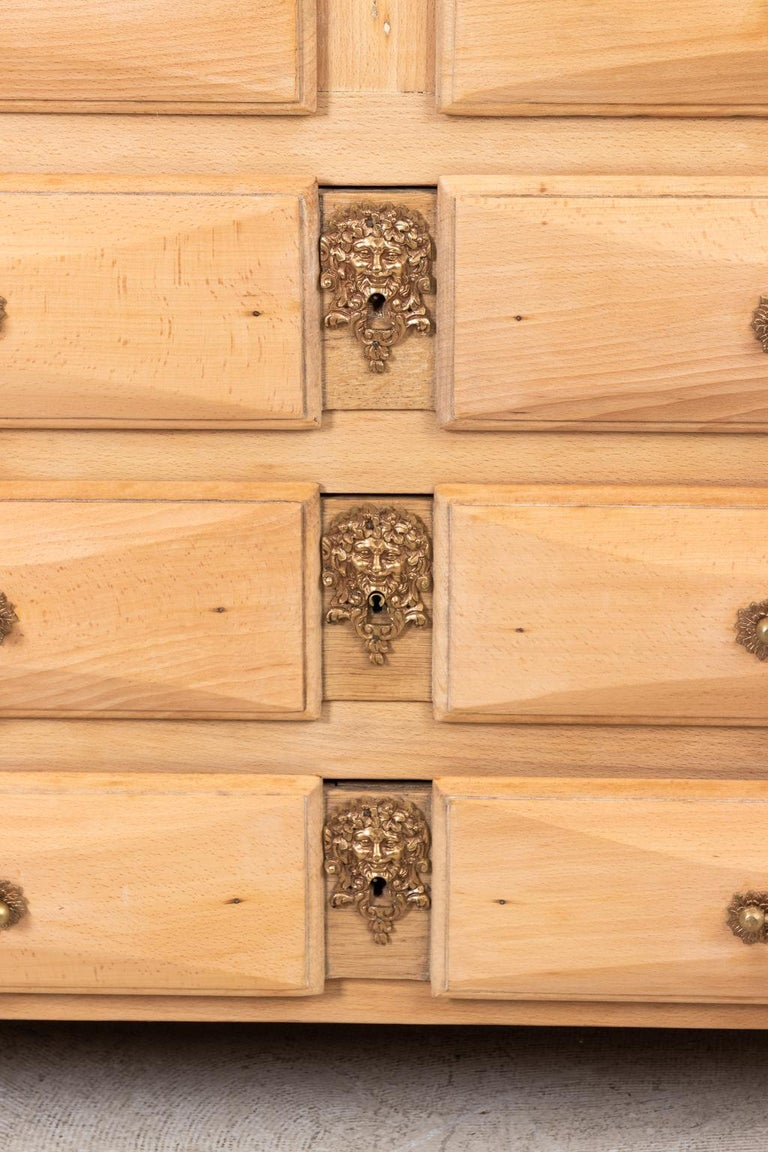 French Beechwood Chest of Drawers with Marble Top In Good Condition For Sale In Stamford, CT
