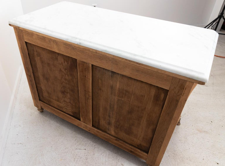 French Beechwood Chest of Drawers with Marble Top For Sale 2