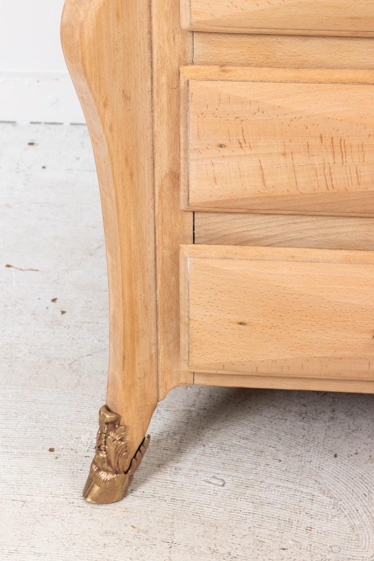 French Beechwood Chest of Drawers with Marble Top For Sale 4
