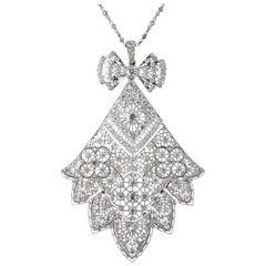 French Belle Époque Diamond Necklace