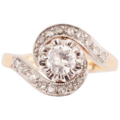 French Belle Époque Diamond Twister Ring