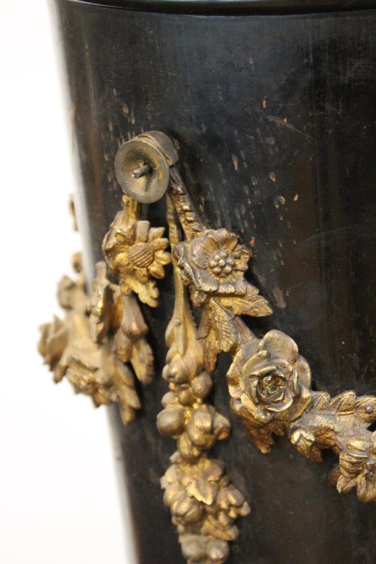 French Belle Époque Ebonized Wood Column Pedestal with Ormolu Detailing For Sale 10