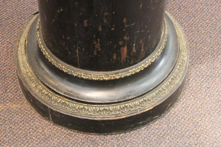 French Belle Époque Ebonized Wood Column Pedestal with Ormolu Detailing For Sale 2