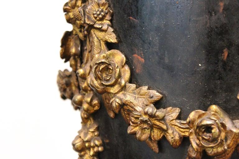 French Belle Époque Ebonized Wood Column Pedestal with Ormolu Detailing For Sale 5