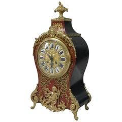 French Belle Époque Louis XV Style Boulle Mantel Clock by Samuel Marti