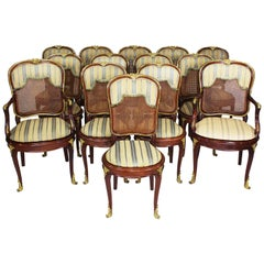 French Belle Époque Louis XV Style Ormolu Mounted Dining Chairs