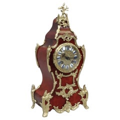 French Belle Époque Louis XV Style Tortoise Shell Mantel Clock by L.P Japy & Cie