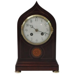 French Belle Epoque Mahogany Mantel Clock