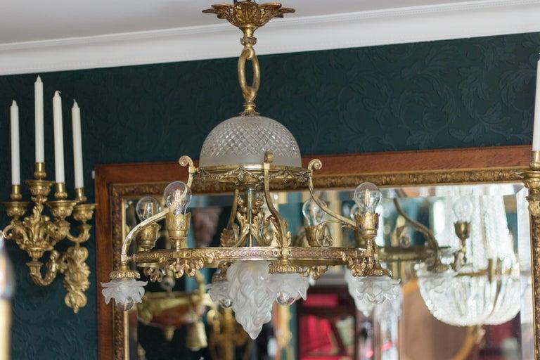 French Belle Époque Nine-Light Chandelier For Sale 4