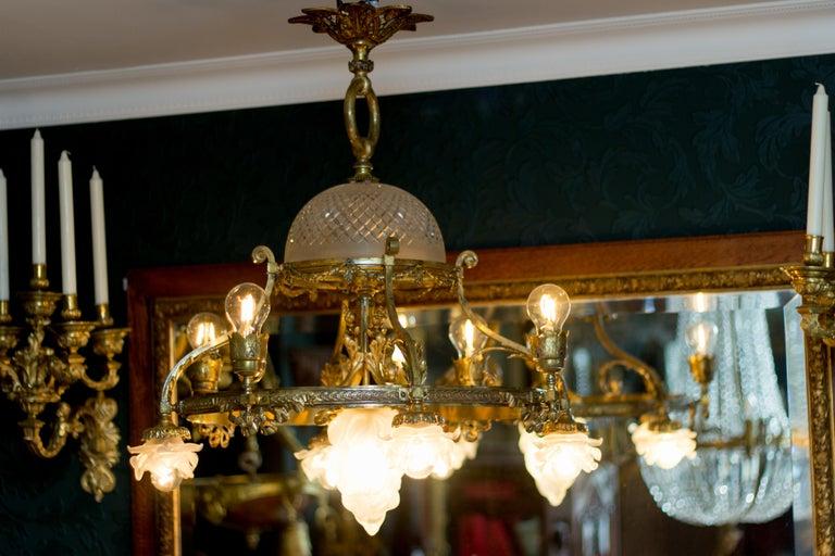 French Belle Époque Nine-Light Chandelier For Sale 5