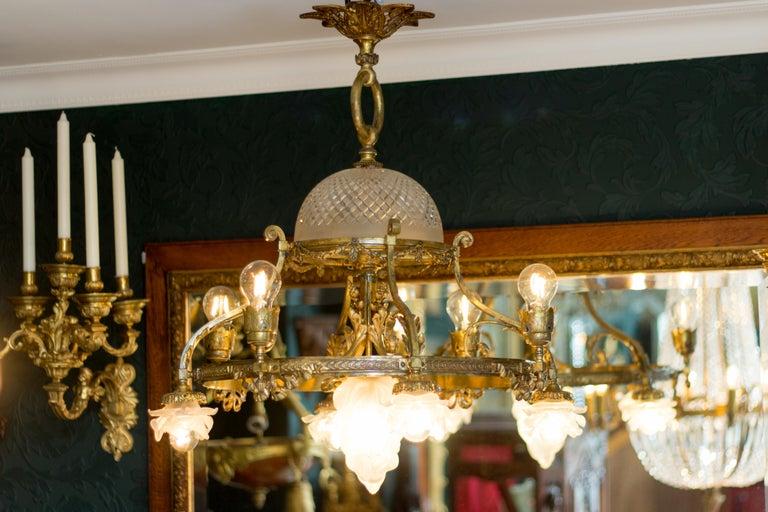 French Belle Époque Nine-Light Chandelier For Sale 7