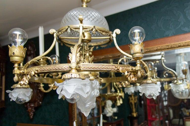 French Belle Époque Nine-Light Chandelier For Sale 10