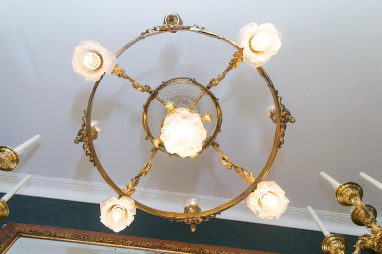 French Belle Époque Nine-Light Chandelier For Sale 12