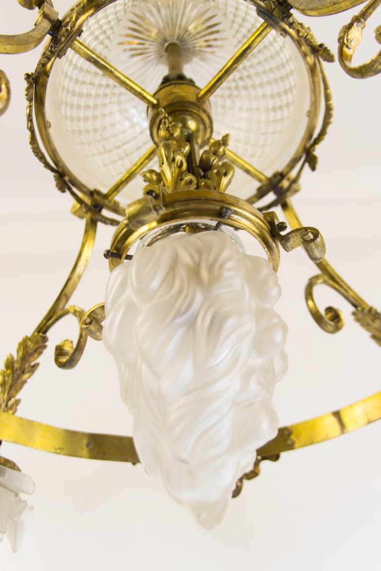 Bronze French Belle Époque Nine-Light Chandelier For Sale