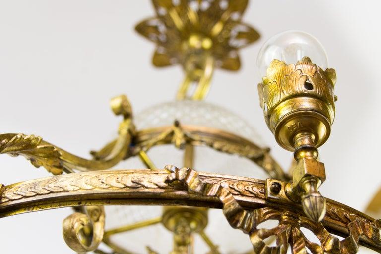 French Belle Époque Nine-Light Chandelier For Sale 1