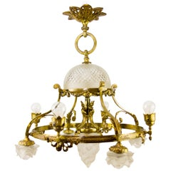 French Belle Époque Nine-Light Chandelier