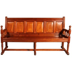 French Bench In Cherry Wood 19th Century
