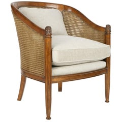 French Bergère Tradition Armchair, 20th Century
