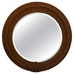 French Beveled Rope Mirror by Audoux & Minet