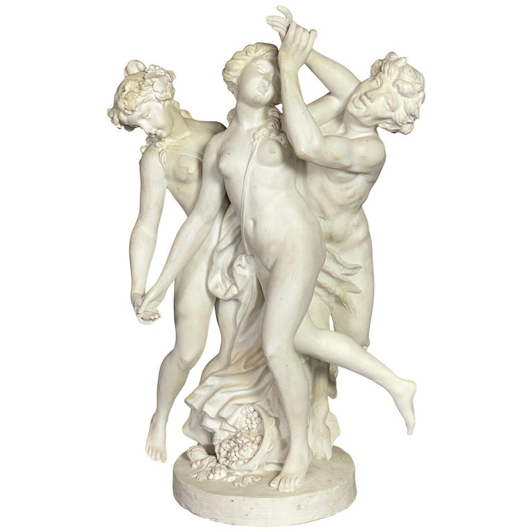 French Bisque Porcelain Centerpiece For Sale