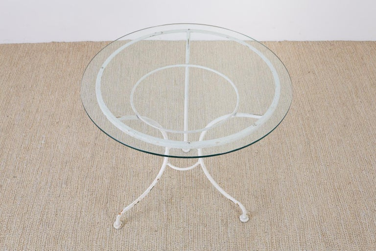 French Bistro Style Garden or Patio Table For Sale 5
